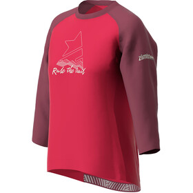 Zimtstern PureFlowz 3/4 T-shirt Dames, jester red/windsor wine/fog green